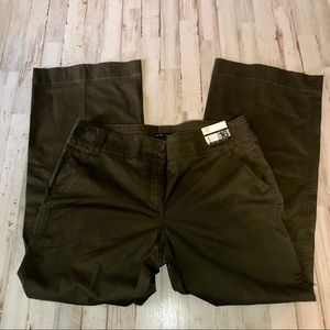 New York & Company Olive Green Chino Trouser Pant